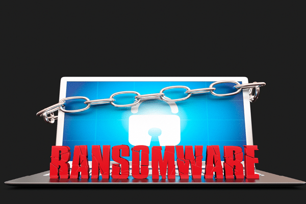 ransomware with chained security lock image